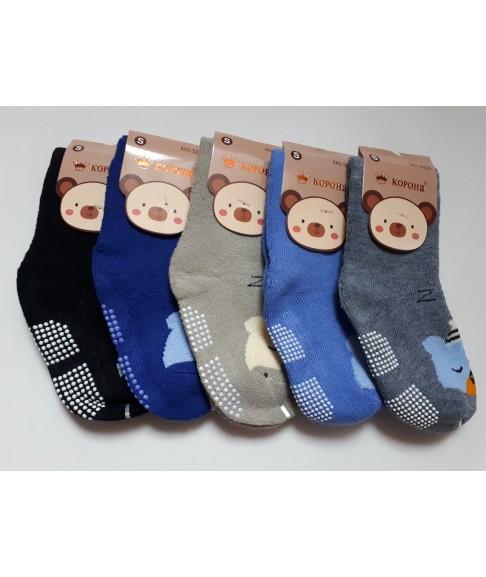 """Махровые детские носки с тормозами """"Корона"""" 3226"""